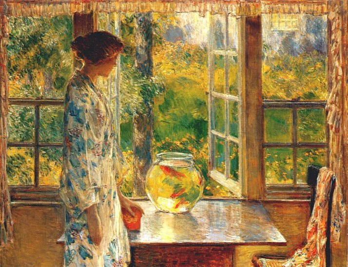 Frederick Childe Hassam - Bowl of Goldfish